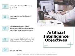 Artificial Intelligence Objectives Ppt File Maker PDF