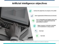 Artificial Intelligence Objectives Ppt PowerPoint Presentation Icon Smartart