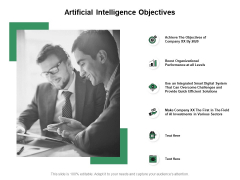 Artificial Intelligence Objectives Ppt PowerPoint Presentation Portfolio Example File