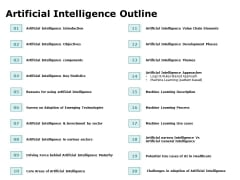 Artificial Intelligence Outline Ppt Inspiration Model PDF