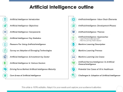 Artificial Intelligence Outline Ppt PowerPoint Presentation Summary Layout