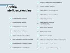 Artificial Intelligence Outline Technologies Ppt PowerPoint Presentation Styles Format