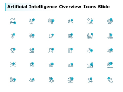 Artificial Intelligence Overview Icons Slide Target Arrow Ppt PowerPoint Presentation Slides Example