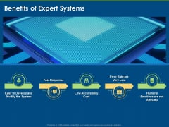 Artificial Intelligence Tools Expert System Benefits Of Expert Systems Ppt Layouts Infographic Template PDF