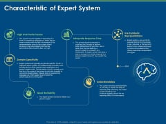 Artificial Intelligence Tools Expert System Characteristic Of Expert System Ppt Professional Infographic Template PDF