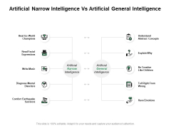 Artificial Narrow Intelligence Vs Artificial General Intelligence Ppt PowerPoint Presentation Icon Information