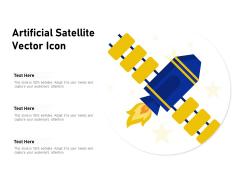 Artificial Satellite Vector Icon Ppt PowerPoint Presentation Inspiration Portfolio PDF