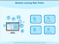 Artificial Surveillance Machine Learning Main Points Ppt PowerPoint Presentation Styles Display PDF
