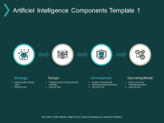 Artificiel Intelligence Components Strategy Ppt PowerPoint Presentation Ideas Elements