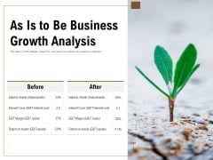 As Is To Be Business Growth Analysis Ppt PowerPoint Presentation Pictures Background Image