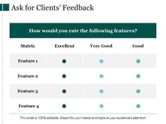 Ask For Clients Feedback Ppt PowerPoint Presentation Gallery Picture