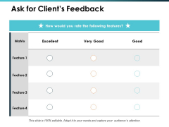 Ask For Clients Feedback Talent Mapping Ppt PowerPoint Presentation Show Format Ideas