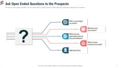 Ask Open Ended Questions To The Prospects Ppt Portfolio Layout PDF