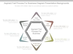 Aspirant Trail Process For Business Diagram Presentation Backgrounds