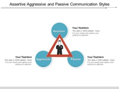 Assertive Aggressive And Passive Communication Styles Ppt PowerPoint Presentation Gallery Design Inspiration PDF