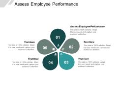 Assess Employee Performance Ppt PowerPoint Presentation Visual Aids Ideas Cpb