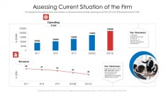 Assessing Current Situation Of The Firm Ppt Infographic Template Gallery PDF