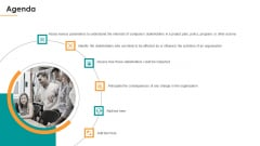 Assessing Stakeholder Analysis Scenario Agenda Ppt File Topics PDF