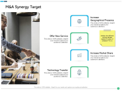 Assessing Synergies M And A Synergy Target Ppt PowerPoint Presentation Infographic Template Deck PDF