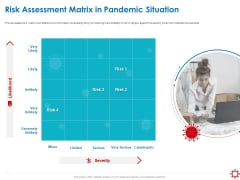 Assessing The Impact Of COVID On Retail Business Segment Risk Assessment Matrix In Pandemic Situation Microsoft PDF