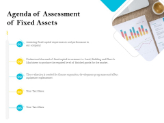 Assessment Of Fixed Assets Agenda Of Assessment Of Fixed Assets Themes PDF