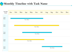 Assessment Of Fixed Assets Monthly Timeline With Task Name Infographics PDF