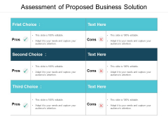Assessment Of Proposed Business Solution Ppt PowerPoint Presentation Outline Topics