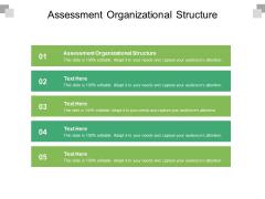 Assessment Organizational Structure Ppt PowerPoint Presentation Slides Topics Cpb Pdf