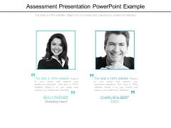 Assessment Presentation Powerpoint Example
