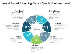 Asset Based Financing Basics Simple Business Lead Generation Ppt PowerPoint Presentation File Maker