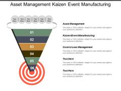 Asset Management Kaizen Event Manufacturing Control Lean Management Ppt PowerPoint Presentation Show
