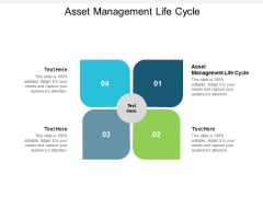 Asset Management Life Cycle Ppt PowerPoint Presentation Model Demonstration Cpb