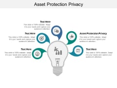 Asset Protection Privacy Ppt PowerPoint Presentation Pictures Visual Aids Cpb