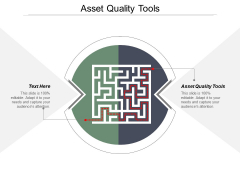 Asset Quality Tools Ppt PowerPoint Presentation Model Structure Cpb