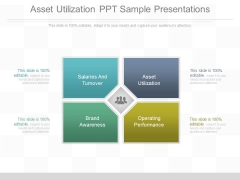 Asset Utilization Ppt Sample Presentations