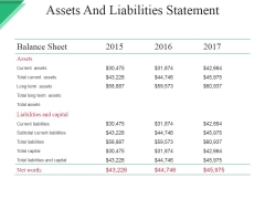 Assets And Liabilities Statement Ppt PowerPoint Presentation Infographics Shapes