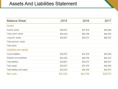Assets And Liabilities Statement Ppt PowerPoint Presentation Model Mockup