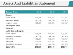 Assets And Liabilities Statement Ppt PowerPoint Presentation Model Structure
