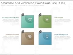 Assurance And Verification Powerpoint Slide Rules