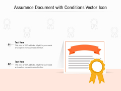 Assurance Document With Conditions Vector Icon Ppt PowerPoint Presentation Model Influencers PDF