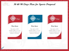 Athletics Sponsorship 30 60 90 Days Plan For Sports Proposal Ppt PowerPoint Presentation Outline Infographic Template PDF