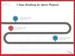 Athletics Sponsorship 3 Steps Roadmap For Sports Proposal Ppt PowerPoint Presentation Ideas Good PDF