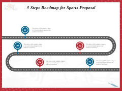 Athletics Sponsorship 5 Steps Roadmap For Sports Proposal Ppt PowerPoint Presentation Styles Influencers PDF