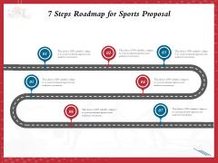 Athletics Sponsorship 7 Steps Roadmap For Sports Proposal Ppt PowerPoint Presentation Gallery Deck PDF