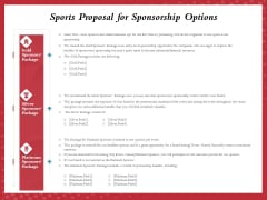 Athletics Sponsorship Sports Proposal For Sponsorship Options Ppt PowerPoint Presentation Show Backgrounds PDF