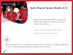 Athletics Sponsorship Sports Proposal Sponsor Benefits Brand Ppt PowerPoint Presentation Styles Themes PDF