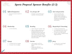 Athletics Sponsorship Sports Proposal Sponsor Benefits Sales Ppt PowerPoint Presentation Show Example Topics PDF