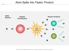 Atom Splits Into Fission Product Ppt PowerPoint Presentation Outline Design Ideas
