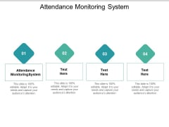 Attendance Monitoring System Ppt PowerPoint Presentation Show Sample Cpb