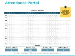Attendance Portal Ppt PowerPoint Presentation Outline Design Templates